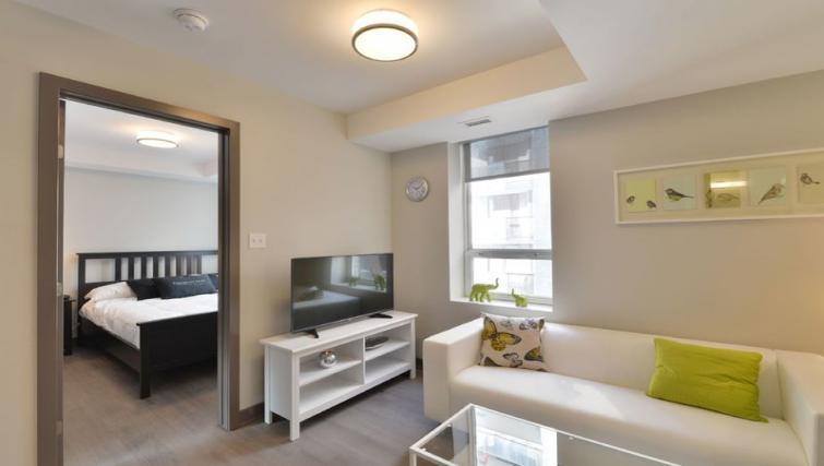 Living area at 169 Lisgar Apartments - Citybase Apartments