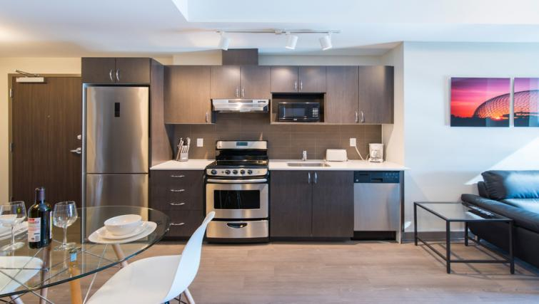 Equipped kitchen at 169 Lisgar Apartments - Citybase Apartments
