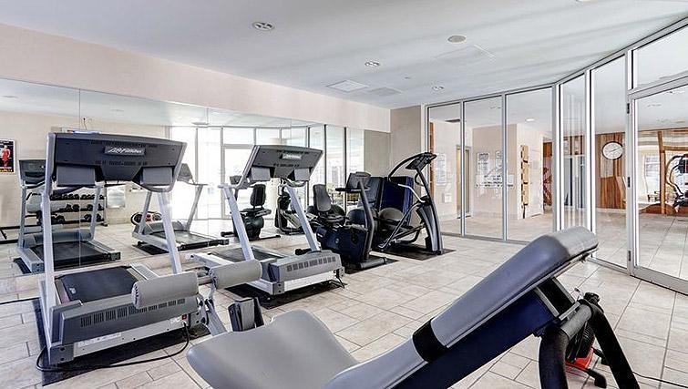 Fitness centre at Laurier East Apartments - Citybase Apartments
