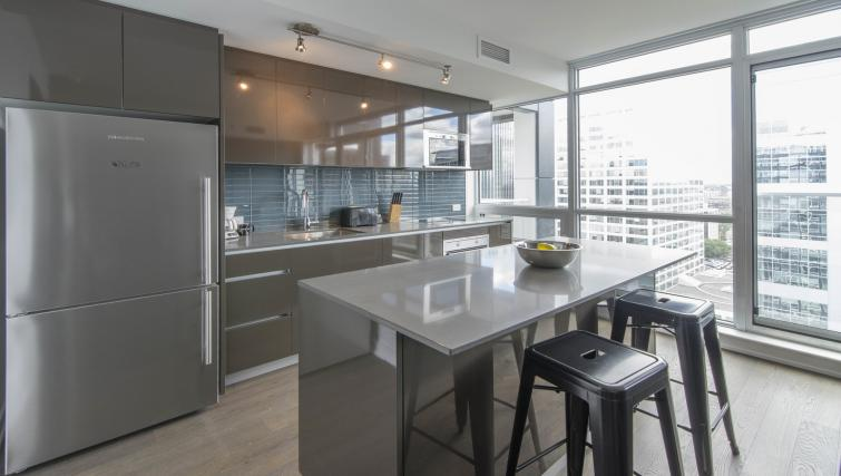 Equipped kitchen at The Slater Apartment - Citybase Apartments