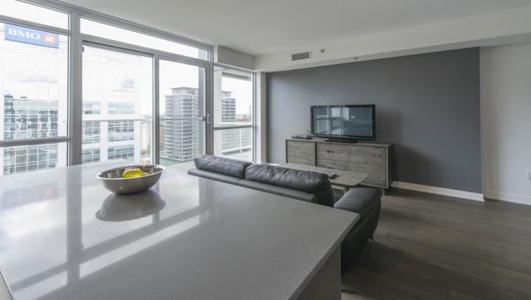 Living space at The Slater Apartment - Citybase Apartments