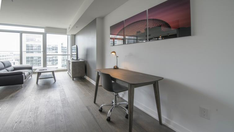 Work desk at The Slater Apartment - Citybase Apartments