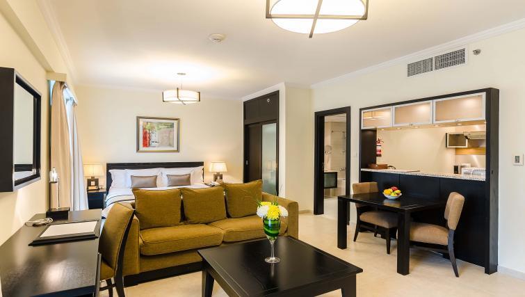 Comfortable living area at Nuran Marina Serviced Residences - Citybase Apartments