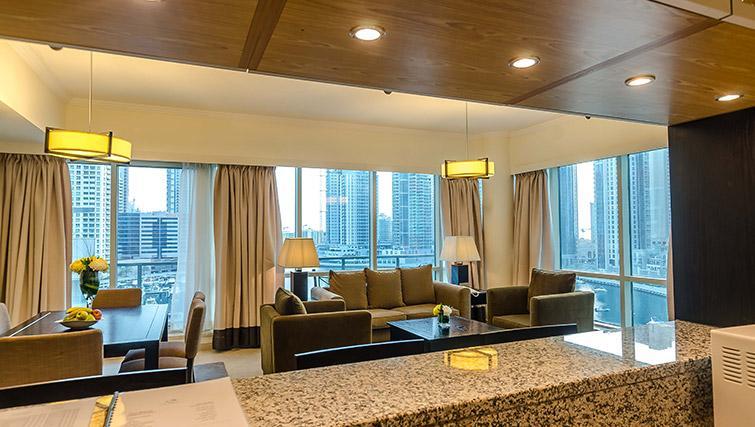 Expansive living area at Nuran Marina Serviced Residences - Citybase Apartments
