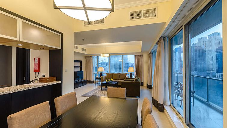 Dining area at Nuran Marina Serviced Residences - Citybase Apartments