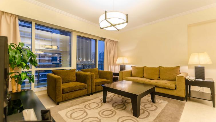 Spacious living area at Nuran Marina Serviced Residences - Citybase Apartments