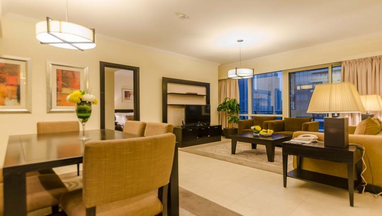Open plan living/dining area at Nuran Marina Serviced Residences - Citybase Apartments