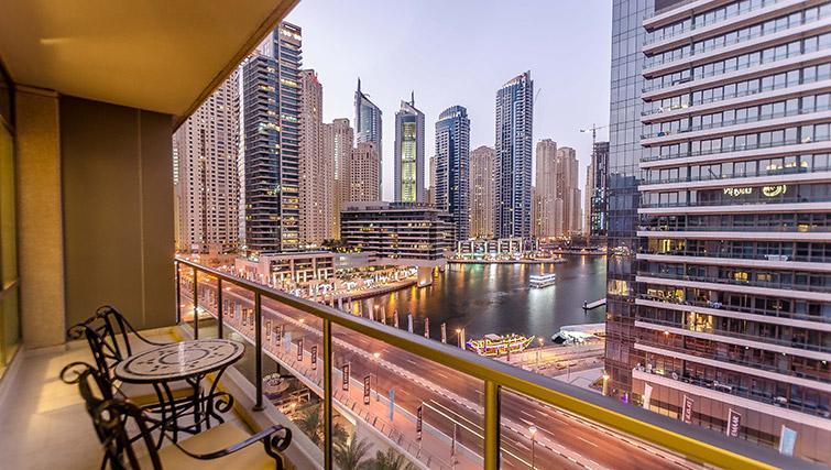 Stunning balcony views at Nuran Marina Serviced Residences - Citybase Apartments