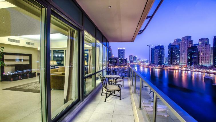 Balcony view at Nuran Marina Serviced Residences - Citybase Apartments