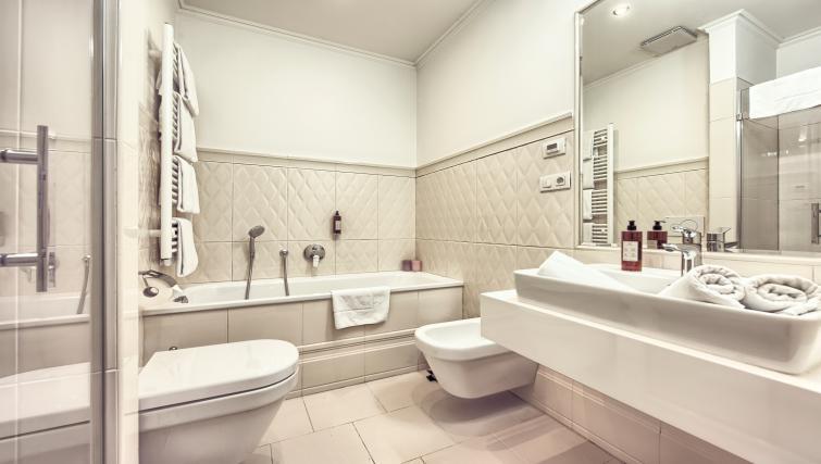 Bathroom at Milosrdnych Apartments - Citybase Apartments