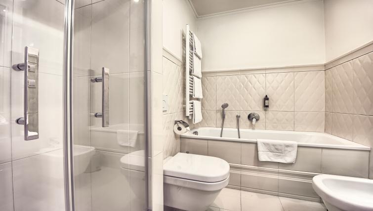 Main bathroom at Milosrdnych Apartments - Citybase Apartments