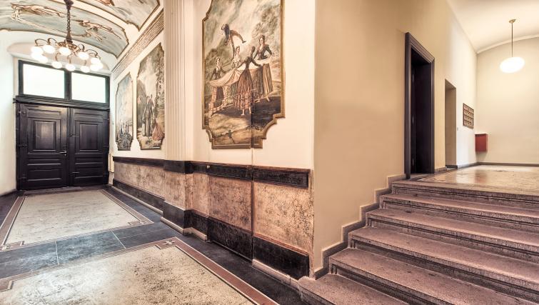 Communal hallway at Milosrdnych Apartments - Citybase Apartments