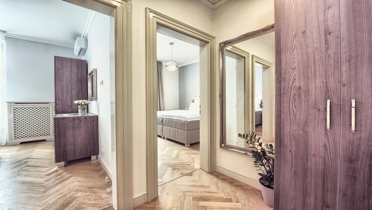 Hallway at Milosrdnych Apartments - Citybase Apartments