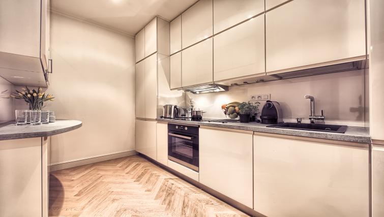 Kitchen at Milosrdnych Apartments - Citybase Apartments