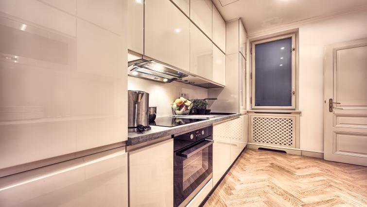 Equipped kitchen at Milosrdnych Apartments - Citybase Apartments