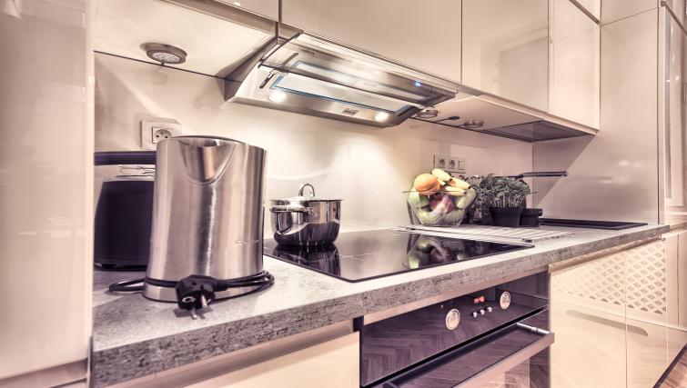 Fully equipped kitchen at Milosrdnych Apartments - Citybase Apartments
