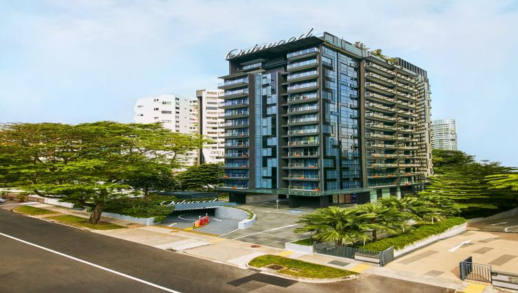 Exterior of Oakwood Studios Singapore - Citybase Apartments