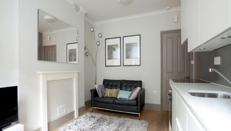 Cosing living space at Fitzrovia Cleveland Apartments - Citybase Apartments