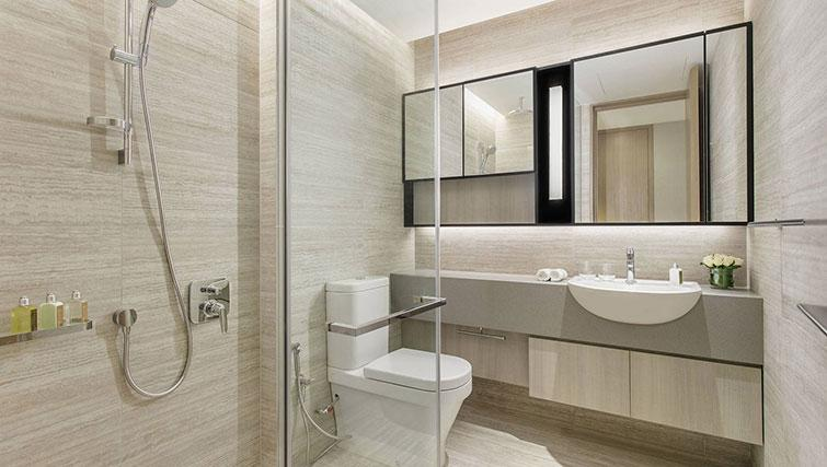 Main bathroom at Ascott Orchard Apartments, Singapore - Citybase Apartments