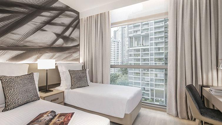 Twin bedroom at Ascott Orchard Apartments, Singapore - Citybase Apartments