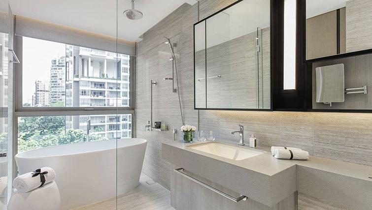 Bathroom at Ascott Orchard Apartments, Singapore - Citybase Apartments