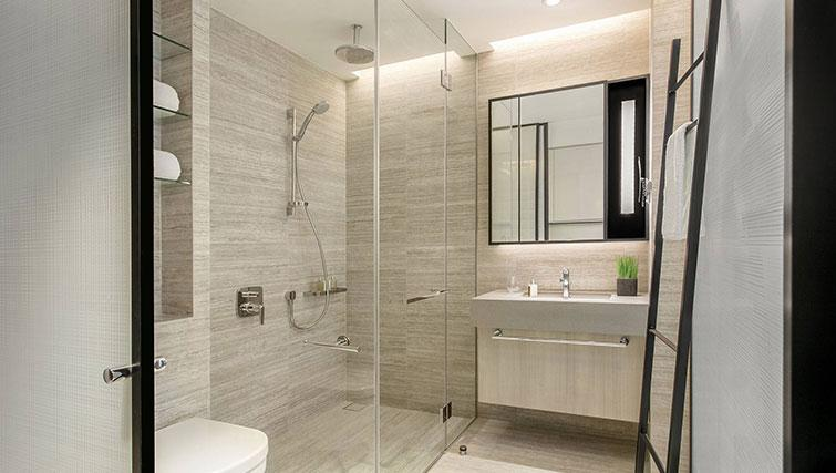 Shower room at Ascott Orchard Apartments, Singapore - Citybase Apartments