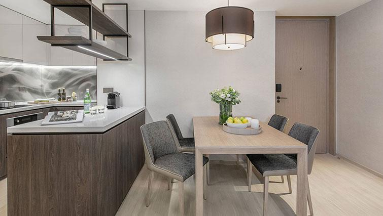 Dining area at Ascott Orchard Apartments, Singapore - Citybase Apartments