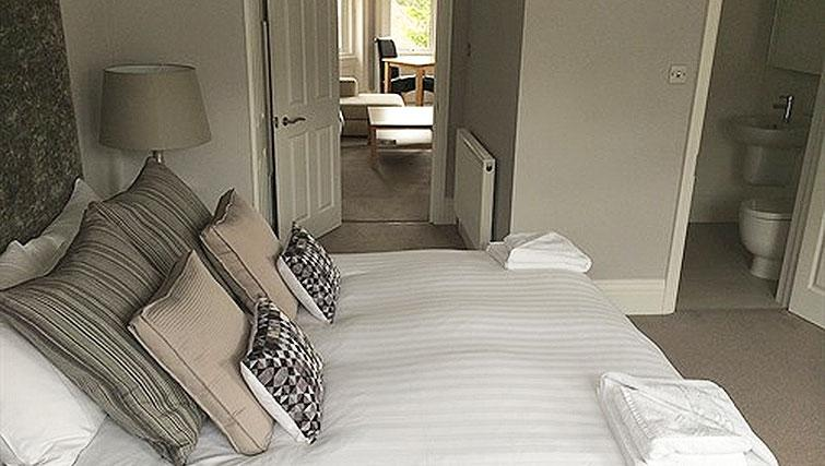 Luxury bedroom at Alum Chine Beach House - Citybase Apartments