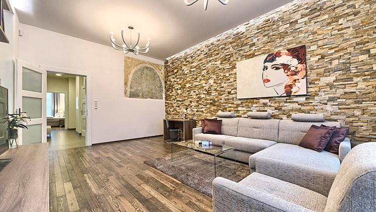 Stylish living area at Krizovnicka Residence - Citybase Apartments