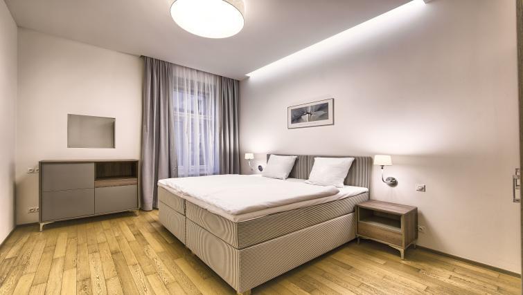 Bed at Krizovnicka Residence - Citybase Apartments