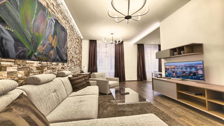 Living area at Krizovnicka Residence - Citybase Apartments