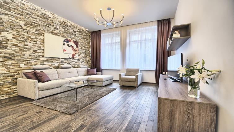Bright living area at Krizovnicka Residence - Citybase Apartments