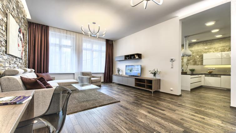 Open plan living area at Krizovnicka Residence - Citybase Apartments