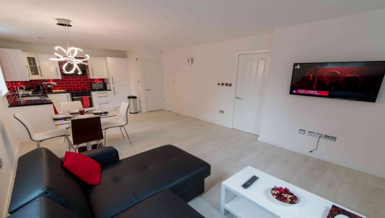 Living space at Nazarene Apartments - Citybase Apartments
