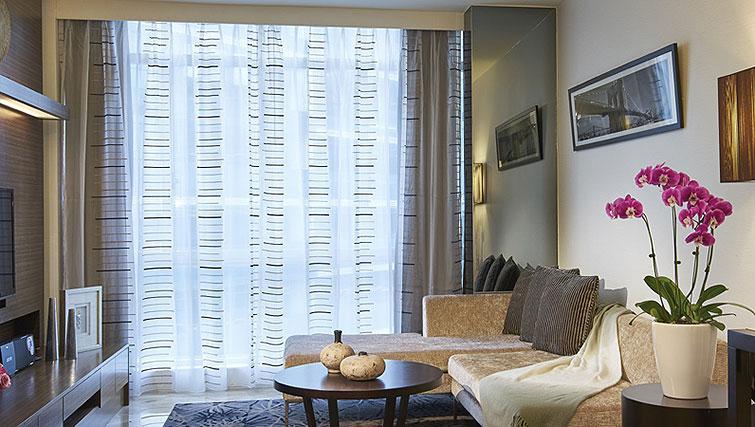 Living area at Orchard Scotts Residences, Singapore - Citybase Apartments