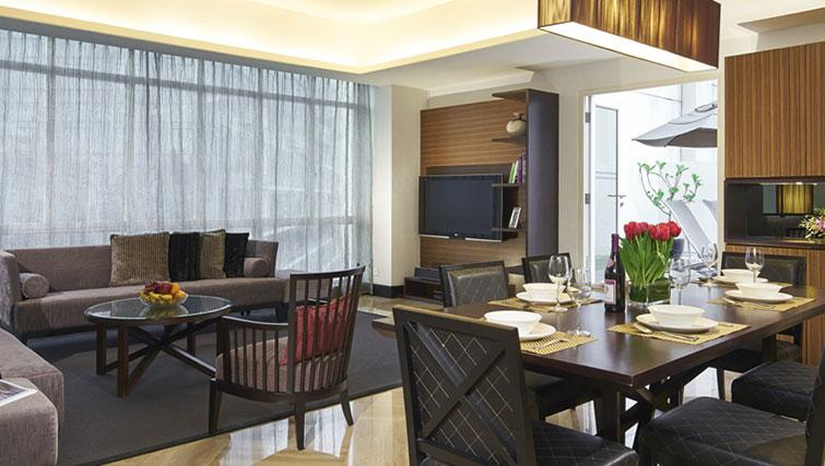 Open plan living area at Orchard Scotts Residences, Singapore - Citybase Apartments