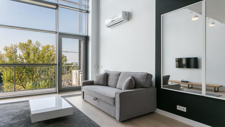 Living space at Qbik Suites - Citybase Apartments