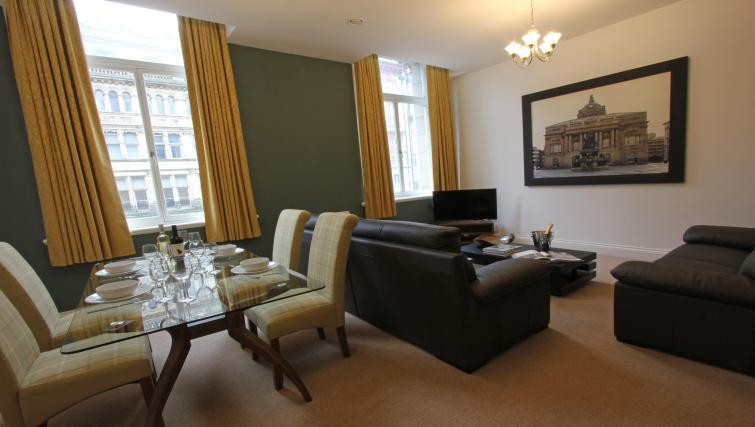 Living space at The Castle Collection - Citybase Apartments