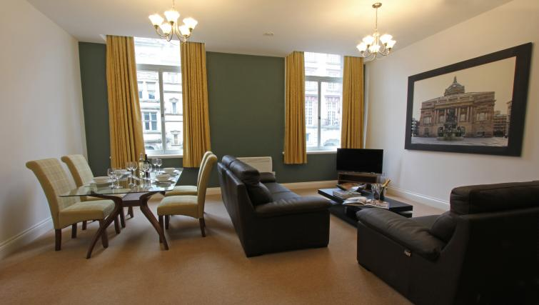 Open plan living area at The Castle Collection - Citybase Apartments