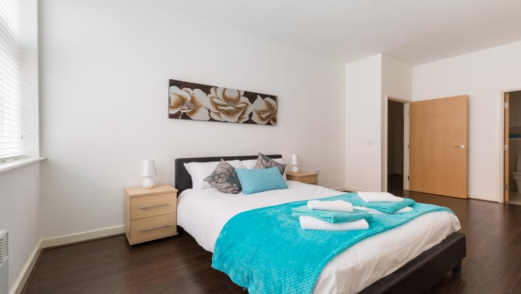 Double bedroom at The Mint Apartments - Citybase Apartments