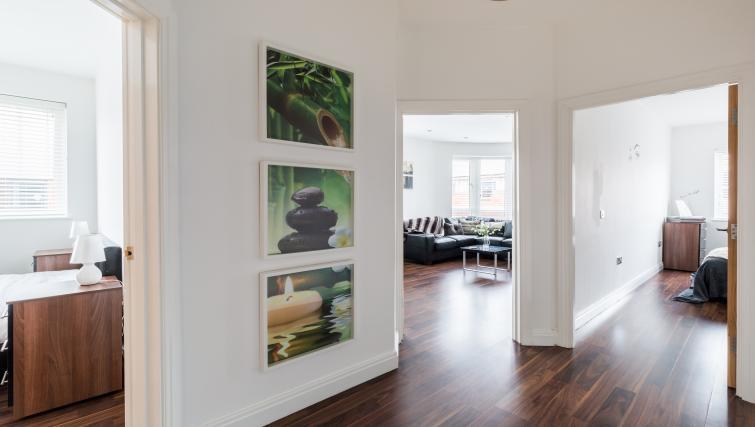 Stylish hallway at The Mint Apartments - Citybase Apartments