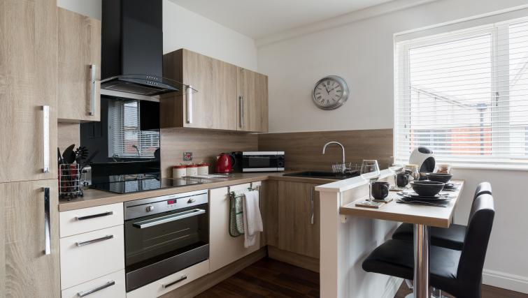 Modern kitchen at The Mint Apartments - Citybase Apartments