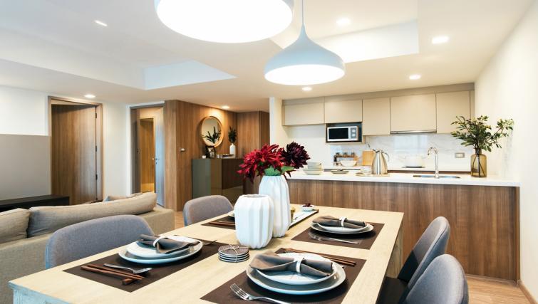 Dining table at Somerset Ekamai Apartments - Citybase Apartments
