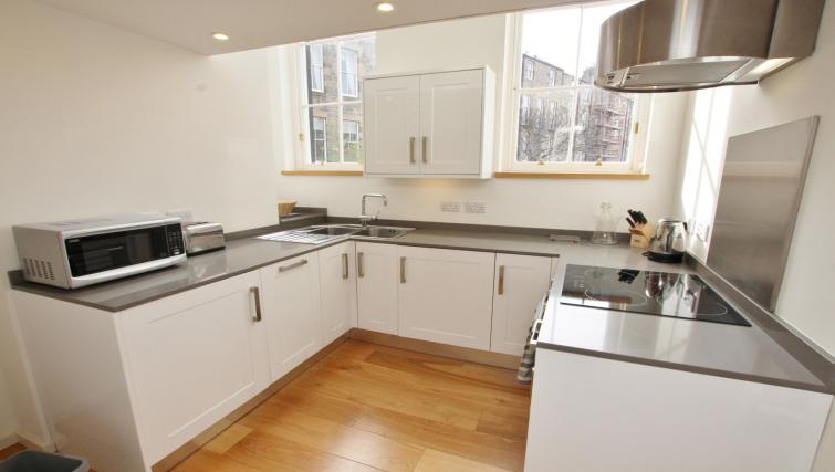 Kitchen at Broughton Street Lofts - Citybase Apartments