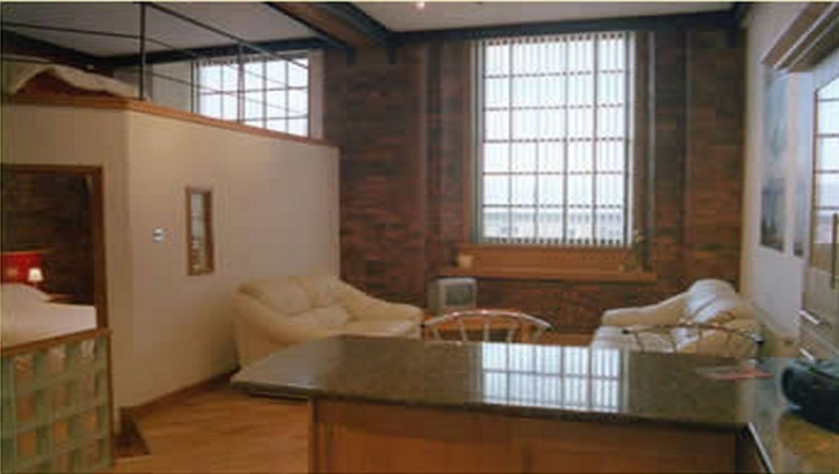Stunning living area in Trafalgar Warehouse Apartments - Citybase Apartments
