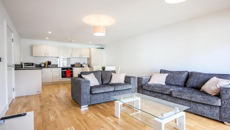 Living room at The Bridge Apartments - Citybase Apartments