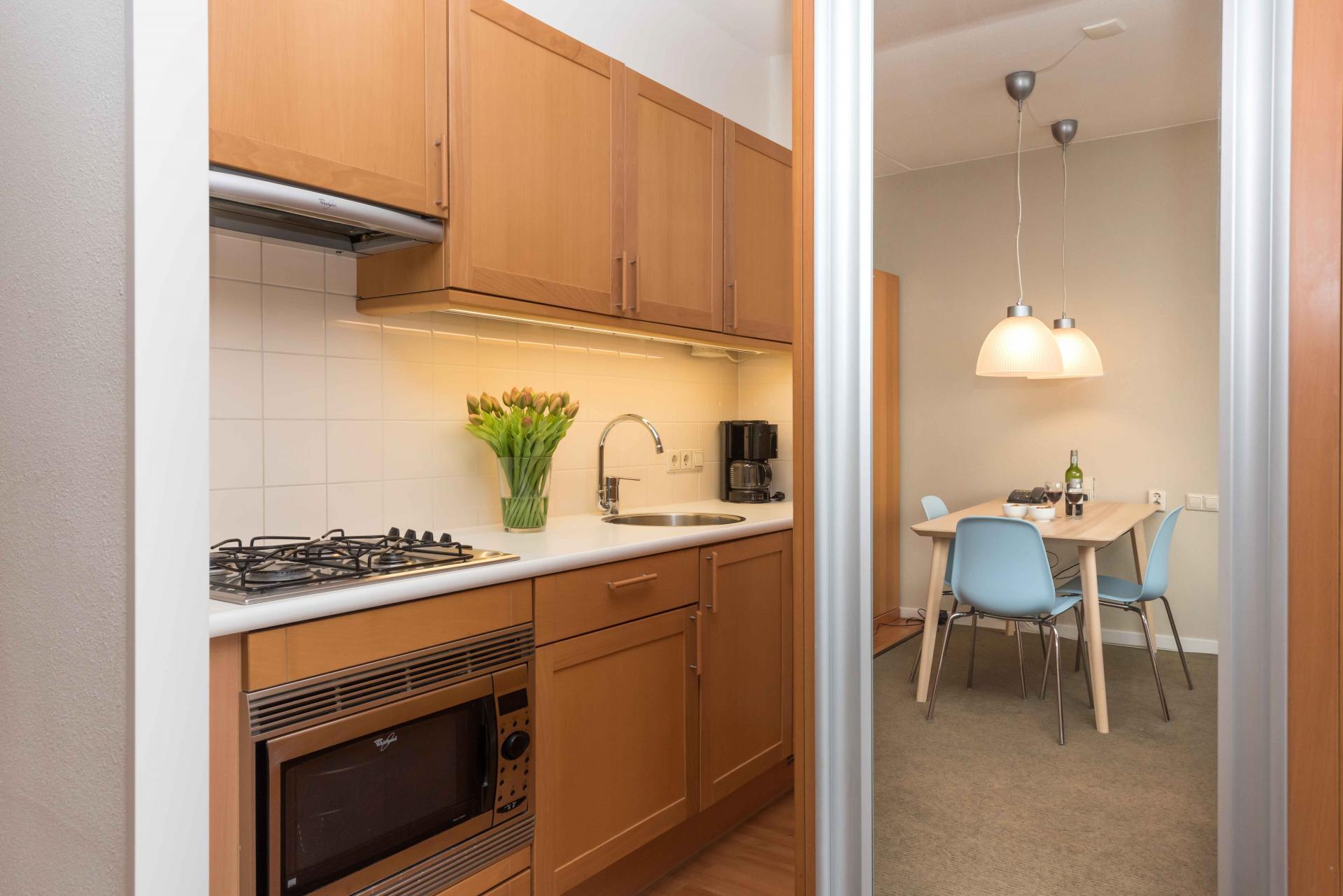 Kitchen facilities at Htel Amstelveen, Amsterdam - Citybase Apartments