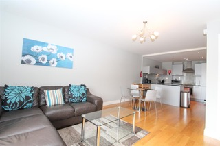 Open plan living room at Ingram Apartments, Merchant City, Glasgow - Citybase Apartments