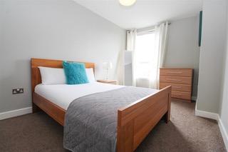 Light bedroom at Ingram Apartments, Merchant City, Glasgow - Citybase Apartments