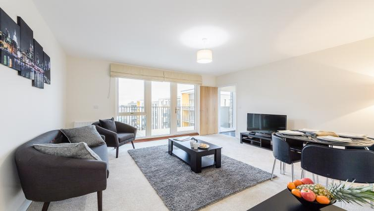 Living area at Flying Butler Colindale Apartments - Citybase Apartments